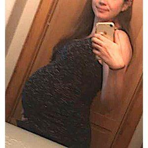 Liz Lange Maternity XS black & gray maxi dress